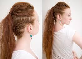 lagertha hairstyle silvousplaits hairstyling lagertha vikings warrior ponytail