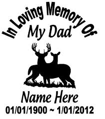 in memory of in loving memory of in memory of car decal in memory