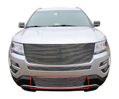 2016 ford explorer 3pc upper mid bumper u0026 bumper billet grille kit