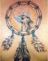 wolf dream catcher tattoo design 5 tattoos book 65 000 tattoos
