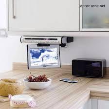 tv in kitchen ideas kitchen breathtaking kitchen tv for home samsung cabinet tv