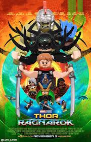 Thor Ragnarok Sdcc Thor Ragnarok Poster Recreated In Lego Future Ruler Of Midgard