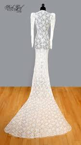 1930 u0027s ivory lace long wedding dress with train s antique