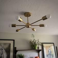gold pendant light fixture bedroom pretty sputnik light fixture atom light bulb with brass