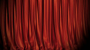 red blue curtains opening on stage includes alpha 4k motion