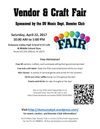vendor and craft fair 4 22 17 flyers dv music dept booster club