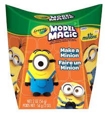 amazon com crayola model magic craft kit make a minion toys
