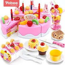 jeux cuisine gateau 38 75 pcs bricolage jeux de simulation de fruits gâteau d