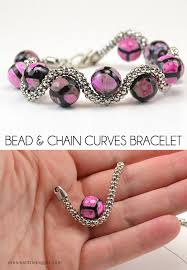 beaded chain bracelet images Bead and chain curves bracelet dream a little bigger jpg