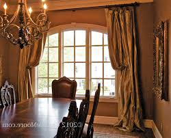 dining room drapes ideas formal curtains basics sheer rod pocket