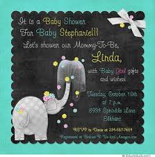 baby shower chalkboard elephant baby shower invitation design graphics