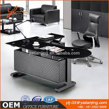 Modern Executive Office Desk by Glass Desk Glass Desk Suppliers And Manufacturers At Alibaba Com
