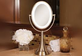 Cordless Lighted Makeup Mirror Cordless Oval Vanity Mirror Sharper Image