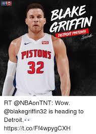 Blake Griffin Memes - nba int blake griffin detroit pstons flagstar bank pistons 32 rt