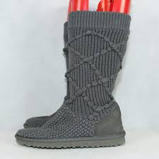 womens ugg knit boots ugg ugg australia 5879 womens gray argyle knit from