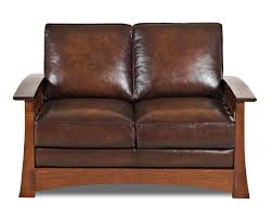 American Leather Sofa by Mission Style Leather Loveseat Comfort Design Higlands Cl7016ls