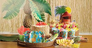 Tropical Theme Birthday Cake - luau party supplies hawaiian luau decorations party city