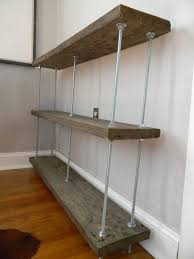 Reclaimed Wood Shelves by Bookshelf With Reclaimed Wood And Threaded Rods Mike