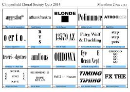 quiz night 2014 chipperfield choral society