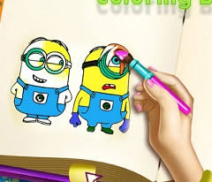 happy birthday minions coloring kids holiday