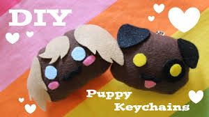 make your own plush diy puppy keychains how to make your own adorable plush