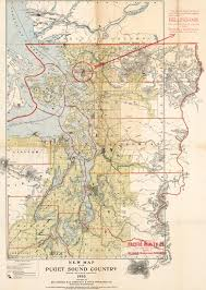 Sound Map New Map Of The Puget Sound Country 5th Revised Edition 1903