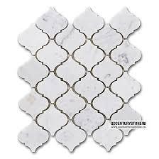 wholesale backsplash tile kitchen polished carrara marble lantern shape mosaic backsplash tiles