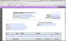 how to make an auto repair invoice excel pdf word youtube