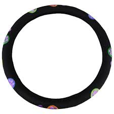 embroidered purple paws steering wheel cover animal rescue