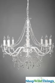 Crystal Beads For Chandelier Large 8 Light White Chandelier With Crystal Beads Huge
