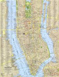 manhattan on map tourist manhattan map 1964 maps