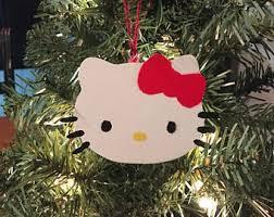 Hello Kitty Christmas Tree Decorations Hello Kitty Ornament Etsy