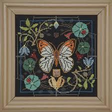 tellin emblem butterfly in bloom great orange tip cross stitch