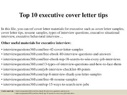 Executive Cover Letter Tips Top 10 Executive Cover Letter Tips 1 638 Jpg Cb 1427965373