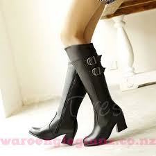 womens white knee high boots nz nz 165 womens boots square heel lace up front toe knee