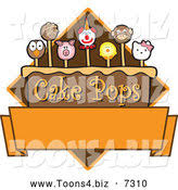 royalty free stock mascot designs of cake pops
