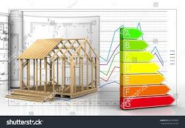 3d illustration frame house construction drawings stock