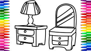fun coloring pages for kids furniture for bedroom how to draw