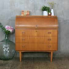image bureau mid century vintage roll top bureau desk pedlars