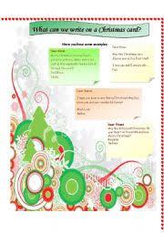 english teaching worksheets christmas cards