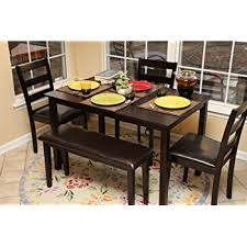 Kitchen Bench And Table Amazon Com 4 Person 5 Piece Kitchen Dining Table Set 1 Table