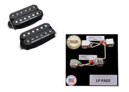 duncan sh 4 sh 2n rodded humbucker set black jimmy page