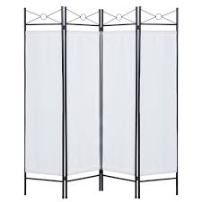 best choice products home accents 4 panel room divider white