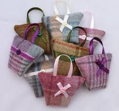 sachet bags tweed lavender sachet handbag shaped dried lavender bag small