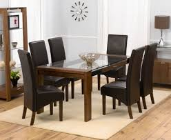 dining room furniture glass charming brown wood glass modern