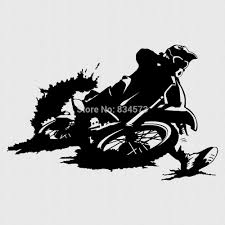 ome decor wall sticker motocross motorbike wall art sticker decal see larger image
