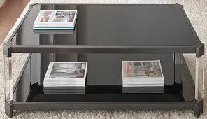 Caster Coffee Table Everly Quinn Alli Tinted Coffee Table With Casters Reviews Wayfair