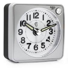 travel alarm clocks images Ultra small portable pocket size non ticking analog quartz travel jpg
