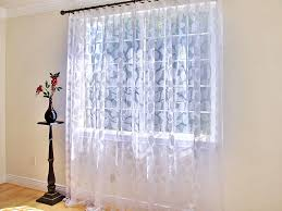make a window with sheer curtain panels dress