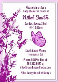 butterfly baby shower invitations candles and favors